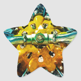 Air Power - Vintage race Airplane's motor and Prop Star Sticker