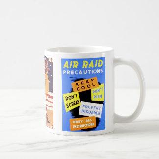 Air Raid and Uncle Sam Basic White Mug
