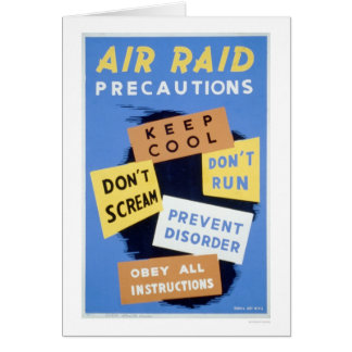 Air Raid Precautions 1941 WPA Greeting Card