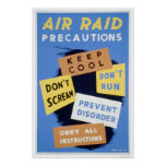 Air Raid Precautions 1941 WPA Poster