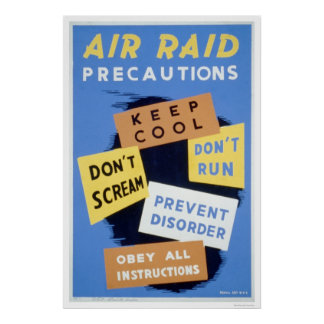Air Raid Precautions 1941 WPA Poster