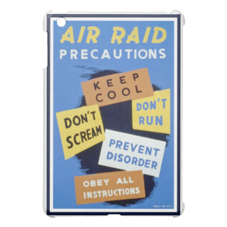 Air raid precautions sign (1943) cover for the iPad mini