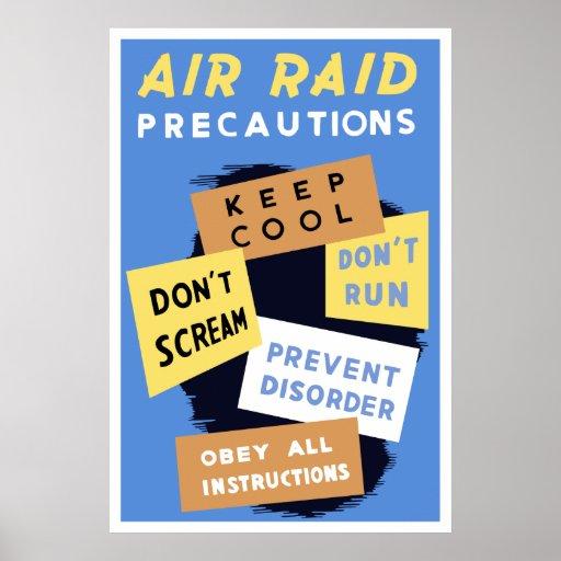 Air Raid Precautions -- WW2 Poster