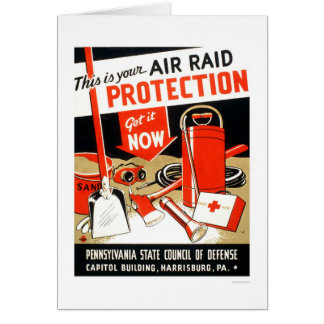 Air Raid Protection 1943 WPA Greeting Card