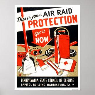 Air Raid Protection 1943 WPA Posters