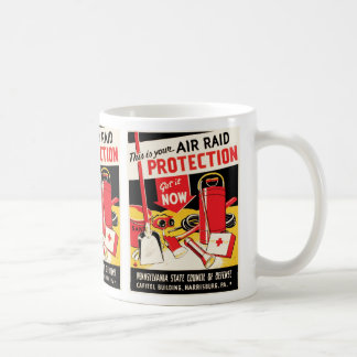 Air Raid Protection Basic White Mug