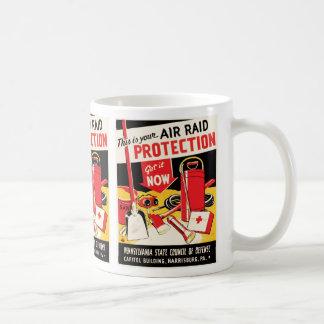 Air Raid Protection Basic White Mug