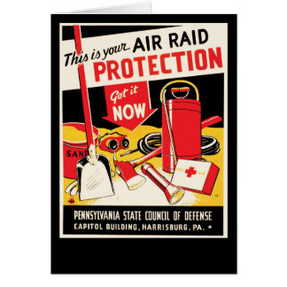 Air Raid Protection Greeting Card