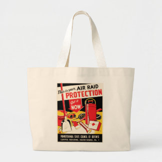 Air Raid Protection Jumbo Tote Bag
