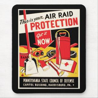 Air Raid Protection Mouse Pad