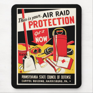 Air Raid Protection Mouse Pad