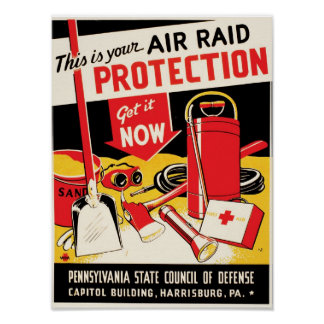 Air Raid Protection Poster