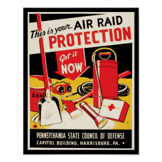 Air Raid Protection Posters