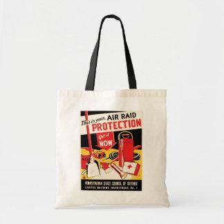Air Raid Protection Budget Tote Bag