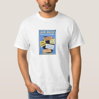 Air Raid, Vintage WWII War Effort Poster Tee Shirt