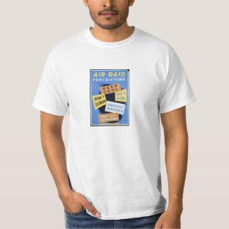 Air Raid, Vintage WWII War Effort Poster Tee Shirt