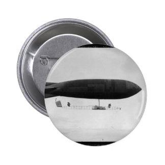 Air ship 6 cm round badge