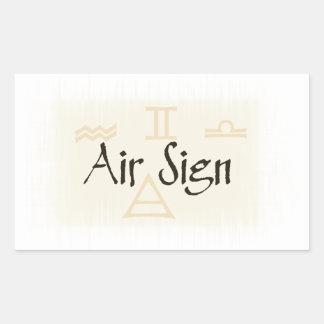 Air Signs Rectangular Sticker