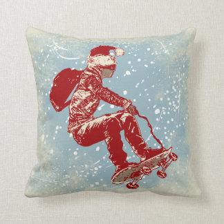 Air Skateborder Christmas Pillow Throw Cushions