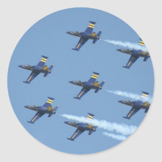 Air squadron Breitling on airshow Round Sticker