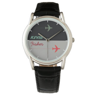 air style cool stylish men watch with his name