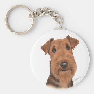 Air tail terrier can key holder basic round button key ring