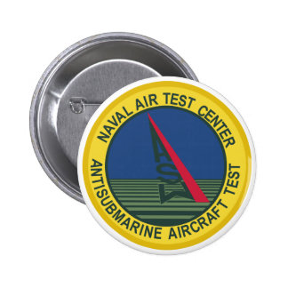 Air Test Center Antisubmarine Aircraft 6 Cm Round Badge