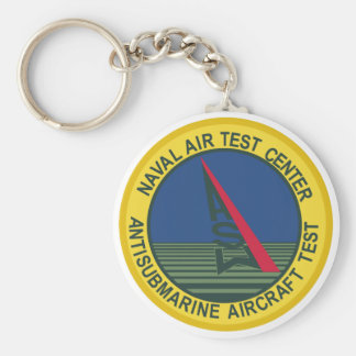 Air Test Center Antisubmarine Aircraft Basic Round Button Key Ring