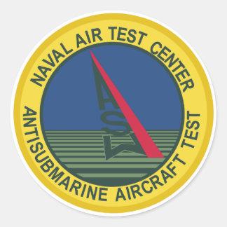 Air Test Center Antisubmarine Aircraft Round Sticker
