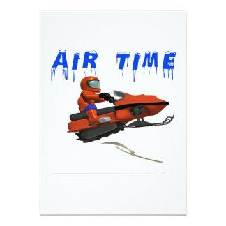 Air Time 13 Cm X 18 Cm Invitation Card