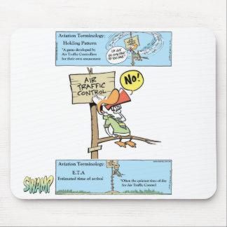 Air Traffic Control Cartoon Mouse Pad