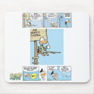 Air Traffic Control Duck Comics Mousemats