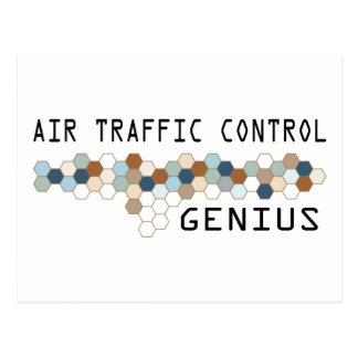 Air Traffic Control Genius Postcard