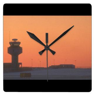 Air traffic control tower_Military Aircraft Clock