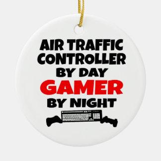 Air Traffic Controller Gamer Christmas Ornament