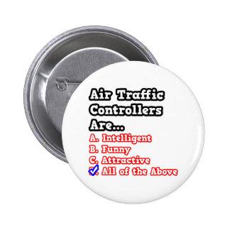 Air Traffic Controller Quiz.. 6 Cm Round Badge