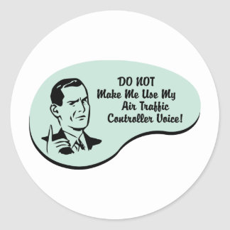 Air Traffic Controller Voice Classic Round Sticker