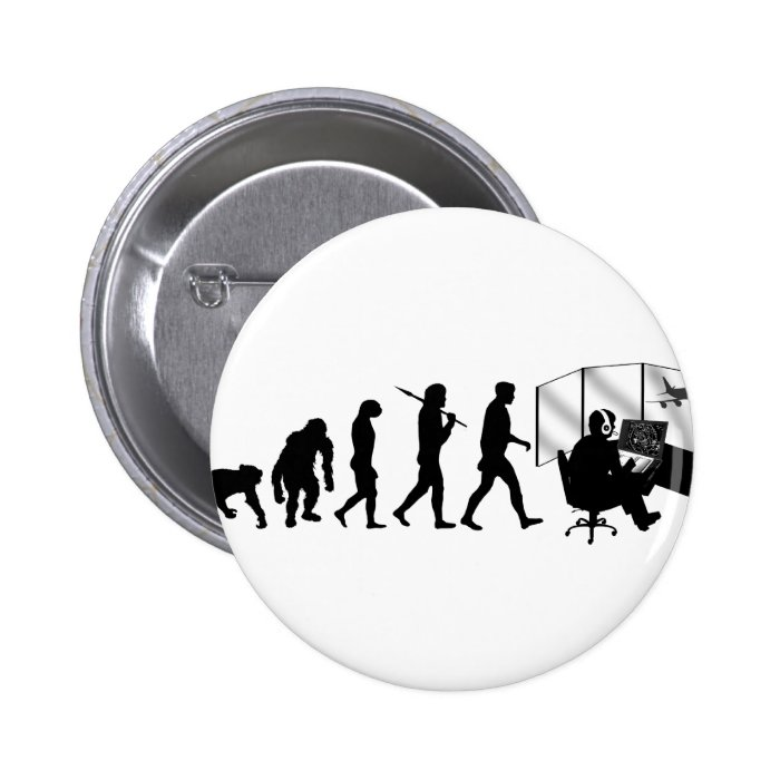 Air traffic controllers gifts tower control 6 cm round badge