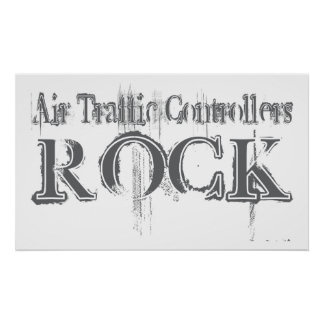 Air Traffic Controllers Rock Poster