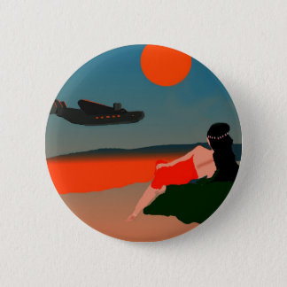 Air Travel Polynesia 6 Cm Round Badge