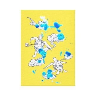Air turtle canvas print