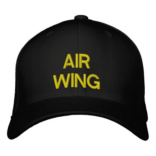 """AIR WING"" PILOTS CAP EMBROIDERED BASEBALL CAP"