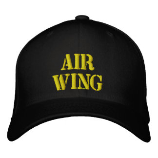 """""""AIR WING"""" PILOTS CAP large stencil type Embroidered Baseball Cap"""