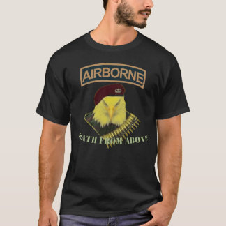 Airborne army bold eagle image cover T-Shirt