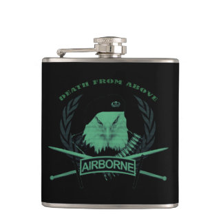 Airborne army military symbol style hip flask