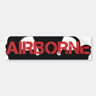 Airborne Crest BLACK Bumper Sticker