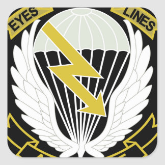 AIRBORNE EYES BEHIND THE LINES MILITARY PATCH SQUARE STICKER