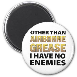 Airborne Grease 6 Cm Round Magnet