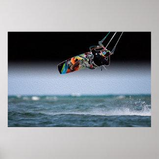 Airborne Kiteboarder Poster 2