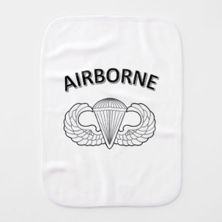 Airborne Logo Burp Cloth